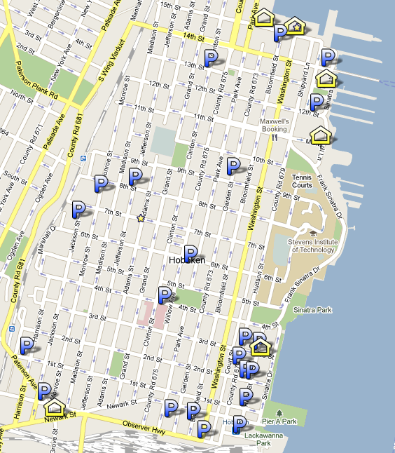 Hoboken NJ Parking Garages Map For Hoboken Real Estate