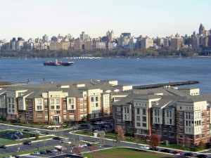 New York and New Jersey condominium buildings with Hudson River View