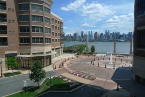 view of manhattan over courtyard at grandview II condominiums