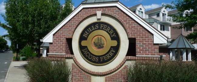 sign for Bulls Ferry and Jacobs Ferry