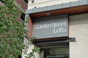 entrance to Garden Street Lofts building