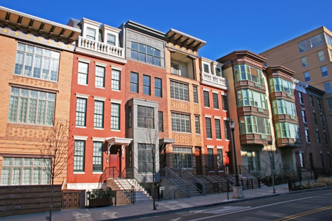 contemporary brownstones in Downtown Jersey City